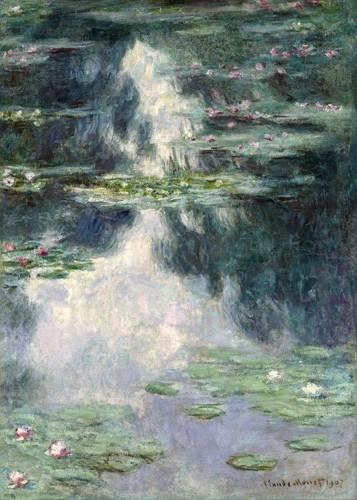 tableaux-de-paysages - Tableau -L'étang aux nymphéas, 1907- - Monet, Claude