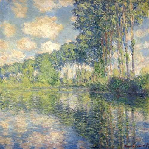 pinturas de paisagens - Quadro -Poplars on the Epte-