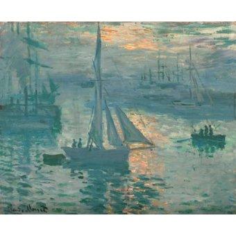 Tableaux de paysages marins - Tableau -Soleil levant (Marine)- - Monet, Claude
