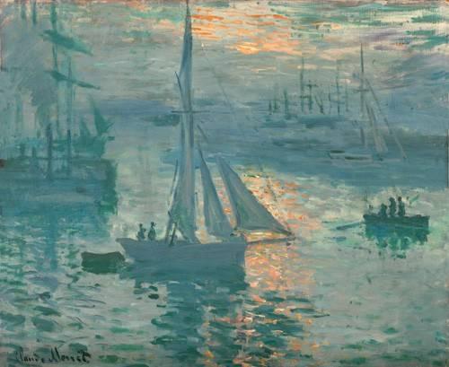 tableaux-de-paysages-marins - Tableau -Soleil levant (Marine)- - Monet, Claude