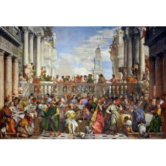 Tableaux religieuses - Tableau -Las Bodas de Caná, 1563- - Veronese, Paolo