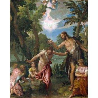 Tableaux religieuses - Tableau -El Bautismo De Cristo- - Veronese, Paolo