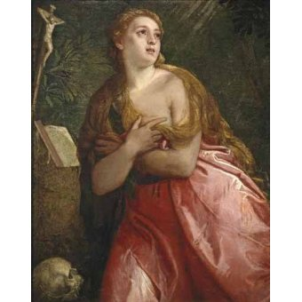 Tableaux religieuses - Tableau -Maria Magdalena pénitent- - Veronese, Paolo