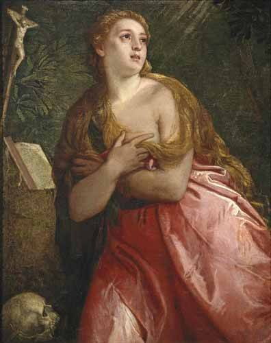 tableaux-religieuses - Tableau -Maria Magdalena pénitent- - Veronese, Paolo