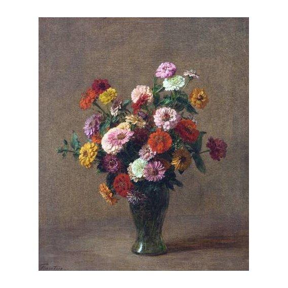 imagens de flores - Quadro -Zinnias-