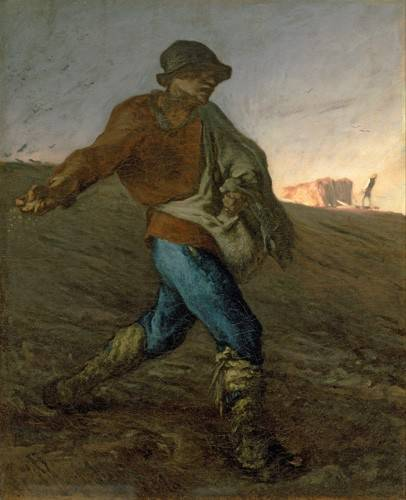 tableaux-de-personnages - Tableau -Le semeur- - Millet, Jean François