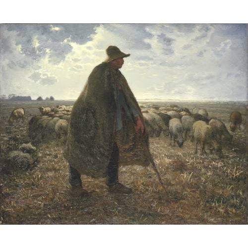 Tableau -Berger tendant son troupeau-