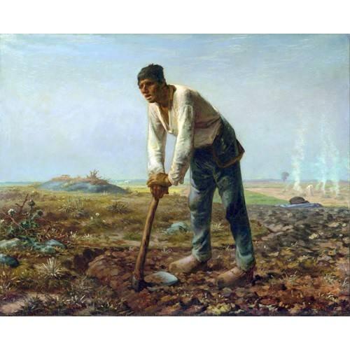 Tableau -L'homme à la houe, 1860-