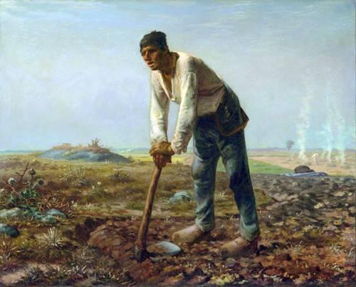 tableaux-de-personnages - Tableau -L'homme à la houe, 1860- - Millet, Jean François