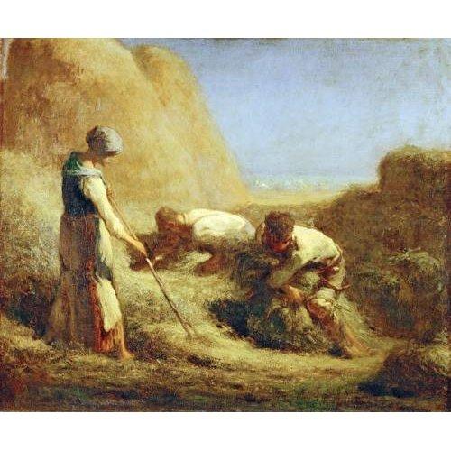 Tableau -Les botteleurs de foin, 1850-