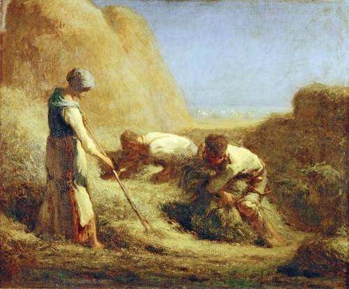 tableaux-de-personnages - Tableau -Les botteleurs de foin, 1850- - Millet, Jean François