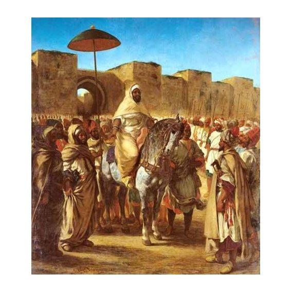 pinturas do retrato - Quadro -The Sultan Of Morocco-