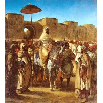 Tableaux de Personnages - Tableau -The Sultan Of Morocco- - Delacroix, Eugene