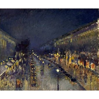 Tableau -The Boulevard Montmartre at Night, 1897-