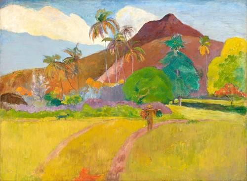 tableaux-de-paysages - Tableau -Tahitian_Landscape- - Gauguin, Paul