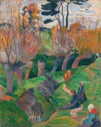 tableaux-de-paysages - Tableau -Paisaje en Bretaña- - Gauguin, Paul