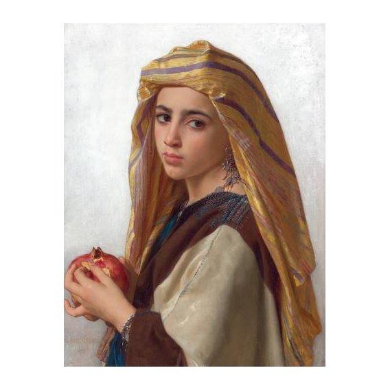 pinturas do retrato - Quadro -Girl with a pomegranate-