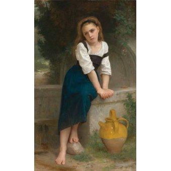 Tableaux de Personnages - Tableau -Orphan by the Fountain, 1883- - Bouguereau, William