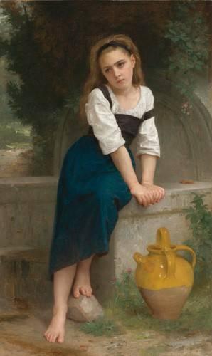 tableaux-de-personnages - Tableau -Orphan by the Fountain, 1883- - Bouguereau, William