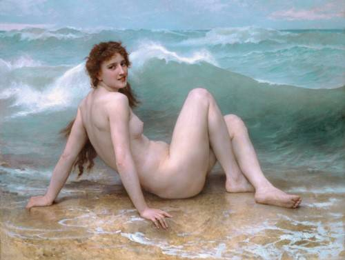 tableaux-de-nus - Tableau -The Wave, 1896- - Bouguereau, William