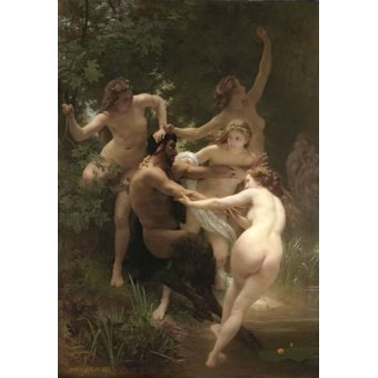 Tableaux de Nus - Tableau -Nymphs and Satyr, 1873- - Bouguereau, William