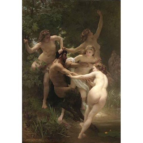 fotos nuas - Quadro -Nymphs and Satyr, 1873-