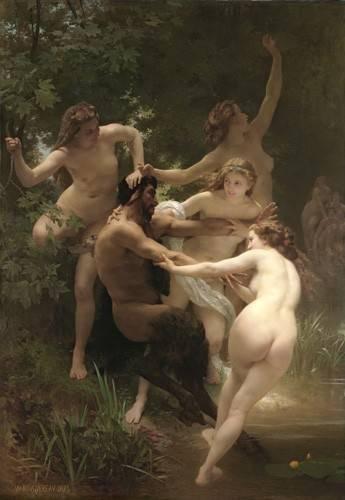 tableaux-de-nus - Tableau -Nymphs and Satyr, 1873- - Bouguereau, William