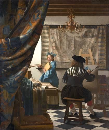 tableaux-de-personnages - Tableau -L'Art de la Peinture- - Vermeer, Johannes