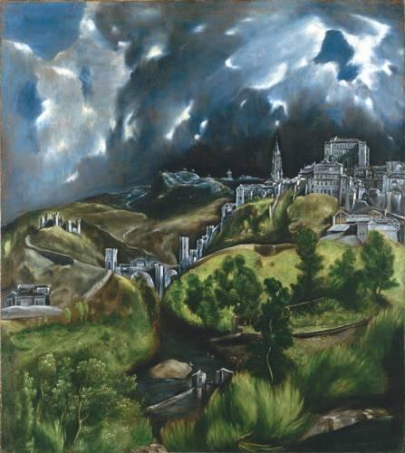 tableaux-de-paysages - Tableau -Vista de Toledo, 1596- - Greco, El (D. Theotocopoulos)