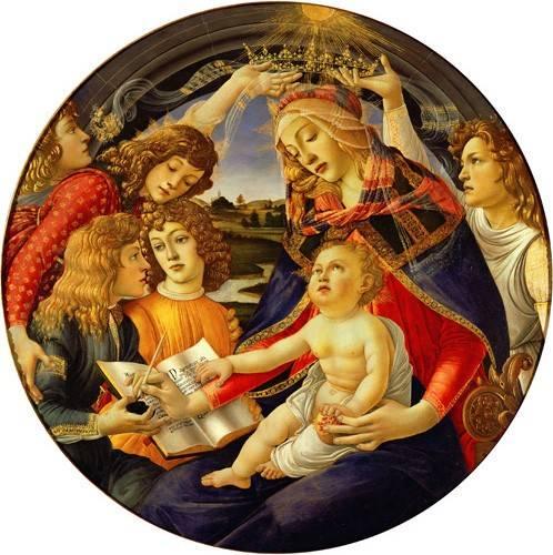 tableaux-religieuses - Tableau -La Virgen Del Magnificat- - Botticelli, Alessandro