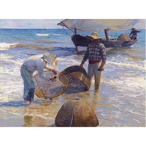 pinturas de paisagens marinhas - Quadro -Los pescadores valencianos-