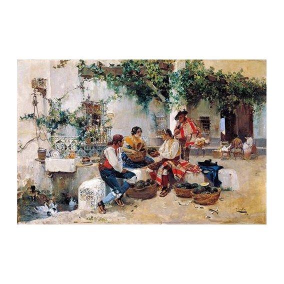 pinturas do retrato - Quadro -Vendiendo melones-