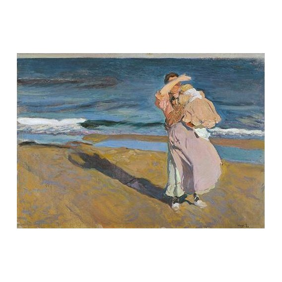pinturas do retrato - Quadro -Pescadora con su hijo-