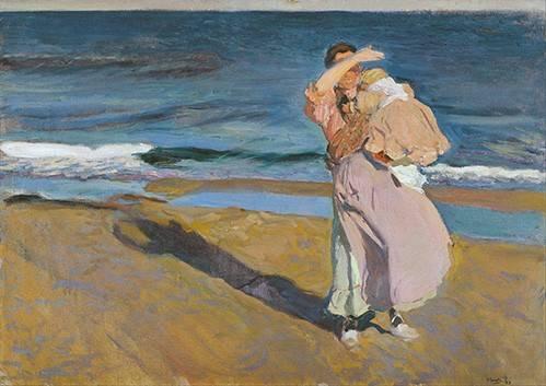 tableaux-de-personnages - Tableau -Pêcheuse avec son fils- - Sorolla, Joaquin