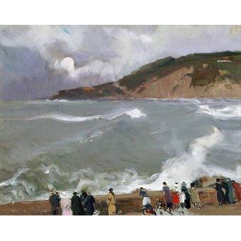 Tableaux de paysages marins - Tableau -Brise-lames, Saint-Sébastien- - Sorolla, Joaquin