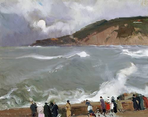 tableaux-de-paysages-marins - Tableau -Brise-lames, Saint-Sébastien- - Sorolla, Joaquin