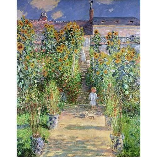 Tableau -Jardin de Monet en Vétheuil, 1880-