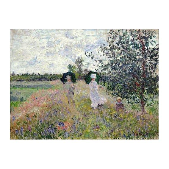pinturas de paisagens - Quadro -Promenade pres d'Argenteuil, 1873-