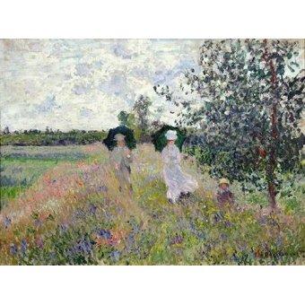 Tableau -Promenade près d'Argenteuil, 1873-