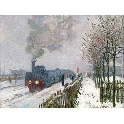 Tableau -Train dans la neige, La Locomotive, 1875-
