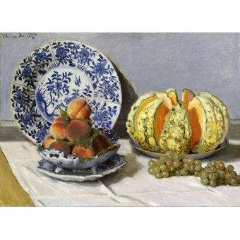 Tableaux nature morte - Tableau -Nature morte au melon- - Monet, Claude