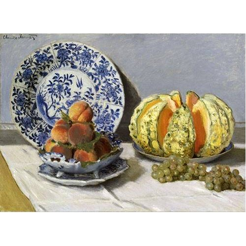Tableau -Nature morte au melon-