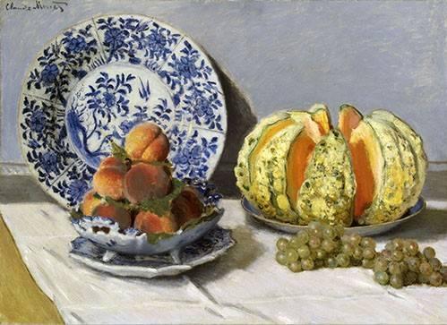 tableaux-nature-morte - Tableau -Nature morte au melon- - Monet, Claude