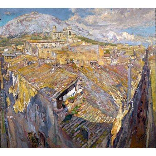 Tableau -Pueblo en L'Empordá-