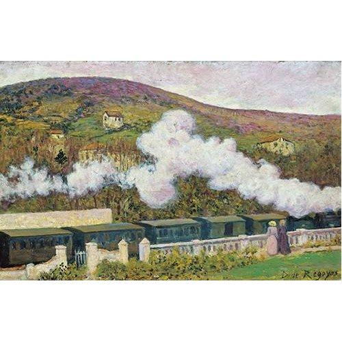 pinturas de paisagens - Quadro -El paso del tren-