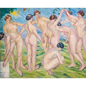 Tableaux de Nus - Tableau -Desnudo (mujeres bailando en circulo)- - Iturrino, Francisco