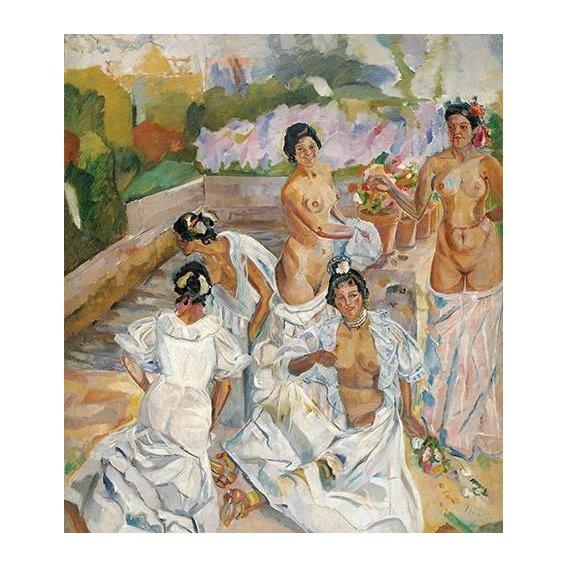 pinturas do retrato - Quadro -El Baño (Sevilla)-