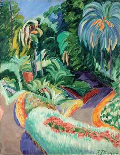 tableaux-de-paysages - Tableau -Jardin- - Iturrino, Francisco