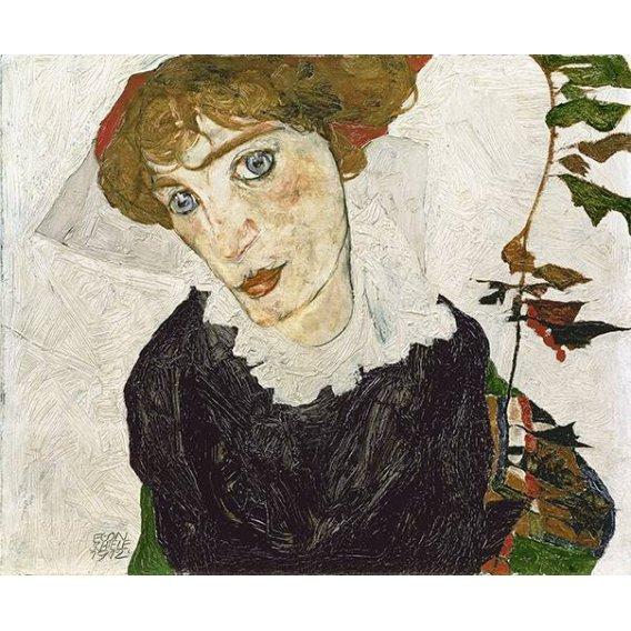 pinturas do retrato - Quadro -Crescent of Houses, 1915-