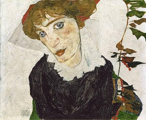 tableaux-de-personnages - Tableau -Portrait de Valerie Neuzil- - Schiele, Egon